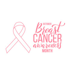 Pink ribbon symbol world breast canser vector