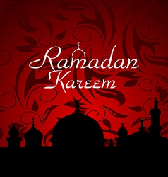 Ramazan celebration background vector