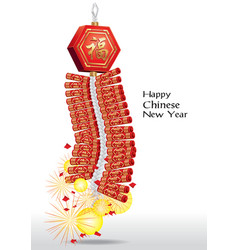 Red firecrackers for chinese new year vector