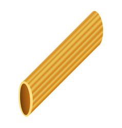 rigatoni pasta mockup realistic style vector image