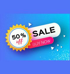 sale banner in paper cut style origami discount vector image