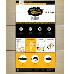 Seafood concept Web site design vector image