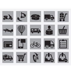 Set of different delivery icons vector image
