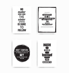 set posters quote vector image
