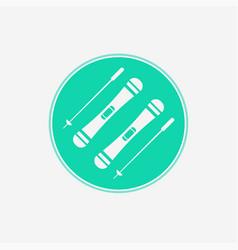 ski sticks icon sign symbol vector image