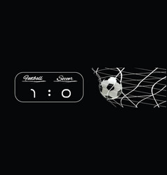 soccer or football black banner scoreboard vector image