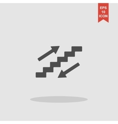 staircase symbol Flat design style vector image