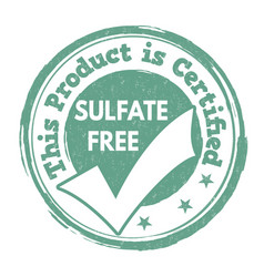 sulfate free sign or stamp vector image