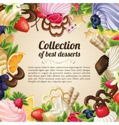Sweets dessert frame vector