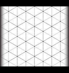 Triangle and hexagon seamless pattern vector