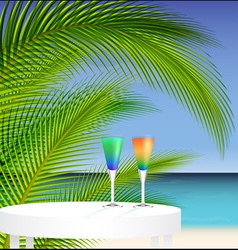 Tropical trip vector image