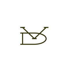 Vd letter mark initial logo icon vector