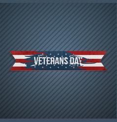 veterans day realistic textile ribbon vector image