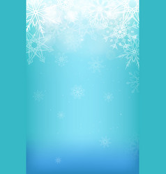 winter background with snowflakes sparkles and vector image