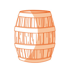 Wooden beer oktoberfest beverage drink vector