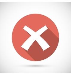 Wrong mark icon flat vector