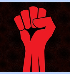 fist roun sea vector image vector image