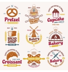 Flour Products Retro Style Emblems vector image vector image