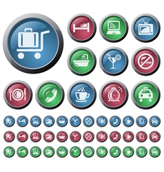 Hotel buttons vector image