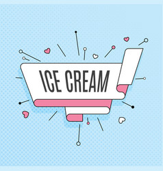 ice cream retro design element in pop art style vector image