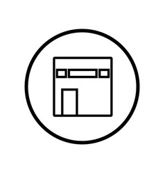 Islamic icon kaaba icon- iconic design vector