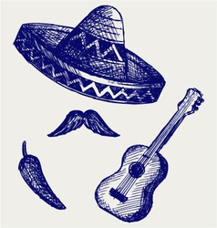 Mexican Symbols vector image