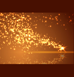 bright abstract falling star shimmering comet vector image vector image