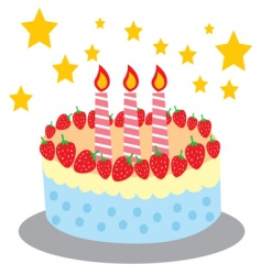 cute and sweet birthday cake vector image
