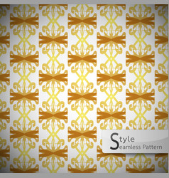 damask mesh gold bow ribbon vintage geometric vector image