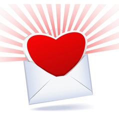 heart and envelope vector image
