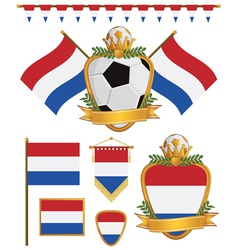 netherlands flags vector image vector image