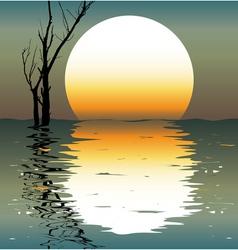 Night landscapes vector