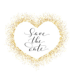 save the date card hand written custom vector image vector image