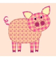 stitched pig vector image vector image