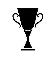 cup winner sign black on white 3003 vector image vector image