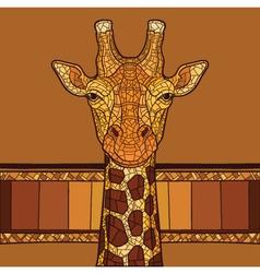 Decorative giraffe head vector image vector image