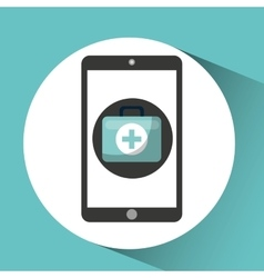 healthcare app first aid graphic vector image vector image