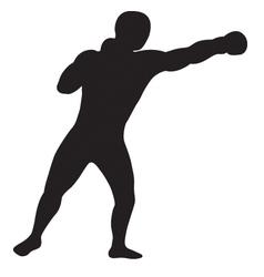 left jab outline vector image vector image