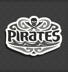 Logo for pirate theme vector