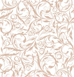 Seamless decorative floral background vector image vector image