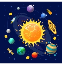 Space Universe Composition vector image