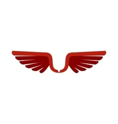 Two red wing birds icon flat style vector image vector image