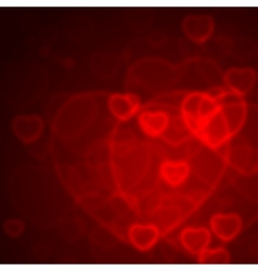 Valentine Bokeh vector image vector image