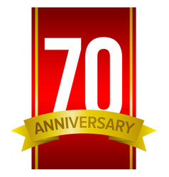 70th anniversary label vector