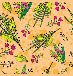 abstract floral background seamless pattern vector image