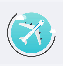 airplane in the air icon travel concept vector image