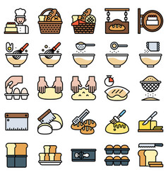 bakery and baking related filled icon set 2 vector image