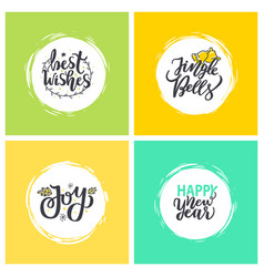 best wishes jingle bells joy and happy new year vector image