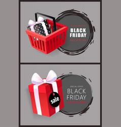 black friday hot november total sale discounts vector image