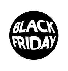 Black friday round icon eps10 vector